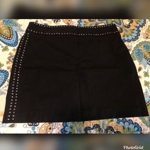 Express Black Embellished Mini Skirt